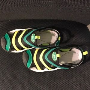 Boys multi-colored sandals. Size 4